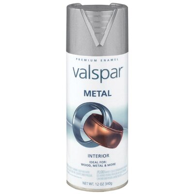 Valspar 12 Oz Brushed Nickel Metal Spray Paint 465-66005 SP