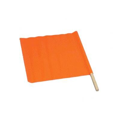 Orange Standard Vinyl Warning Flag With 30