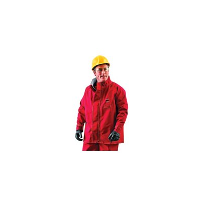 Ansell Sawyer-Tower CPC™ Red Polyester Trilaminate Chemical Resistant Jacket With Gore® Fabric
