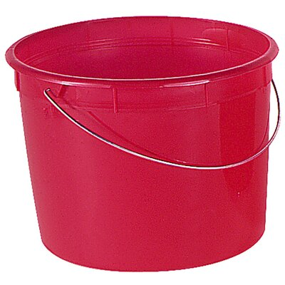 Encore Home Entertainment 5 Quart Red Ring Free Pail With Handle 05161-201047