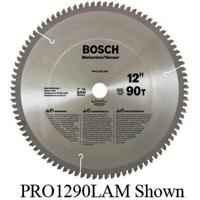"Bosch Power Tools Professional Series Circular Saw Blade For Laminate Cutting With 80 TPI, 5/8"" Arbor, -10° Hook Angle"