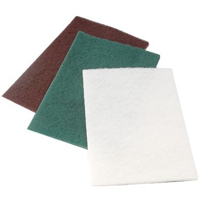 "CGW Abrasives Non-Woven Hand Pads - medium duty green 6""x9""hand pad 10/pk"