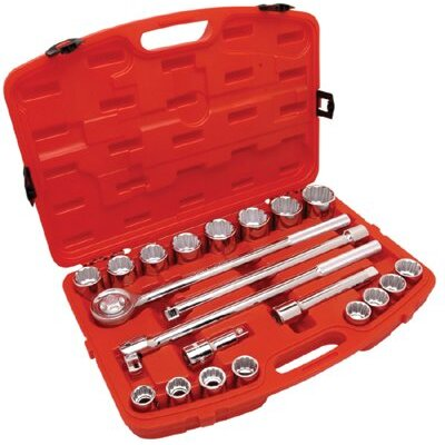 "Cooper Tools 21 Piece 3/4"" Drive Metric Mechanics Tool Set"