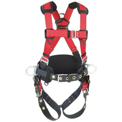DBI/Sala Medium/Large PRO™ Harness With Back And Side D Rings, Hip Pad And Belt And Tongue Buckle Legs