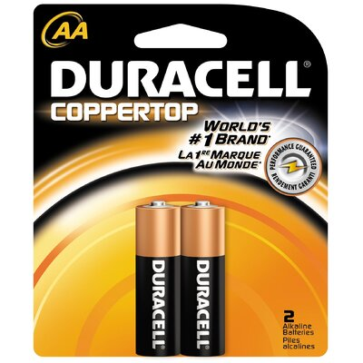 Duracell AA Cell Coppertop Alkaline Battery (Set of 2)