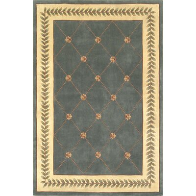 KAS Oriental Rugs Ruby Wedgewood/Ivory Trellis Rug