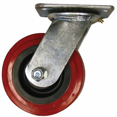 EZ Roll Medium Heavy Duty Casters - 8x2in polyurethane/polyolefin swivel