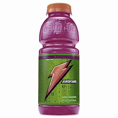 Gatorade Sports Drink, 20 Oz. Plastic Bottles, 24/Carton