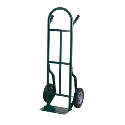 "Harper Trucks 53T Series Dual Pin Handle Steel Hand Truck With 10"" Solid Rubber Wheels"