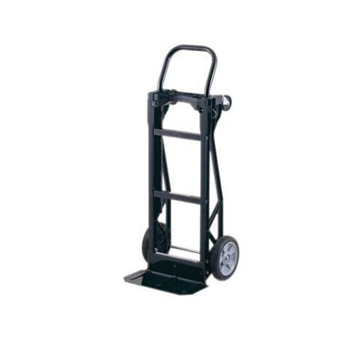 "Harper Trucks PJD Series Nylon Junior Dual Platform/Hand Truck With 8"" Zero Pressure Wheels And 3"" Swivel Casters"