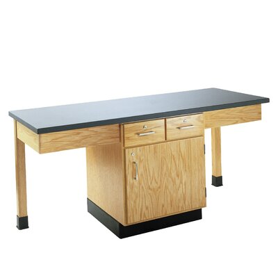 Diversified Woodcrafts 4 Station Science Table With Storage Cabinet & Drawers