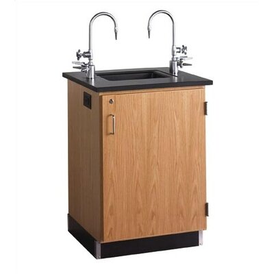 Diversified Woodcrafts Compact Oak Service Island