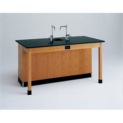 Diversified Woodcrafts Labview 2 Student Workstation With Door Cabinet