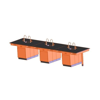 Diversified Woodcrafts Single Faced 6 Student Island Workstation