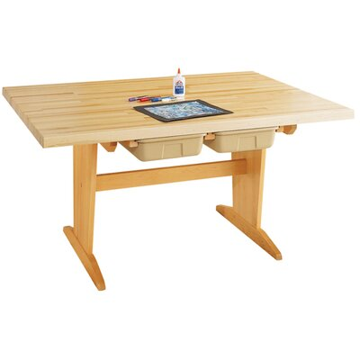 Diversified Woodcrafts Art Planning Table with Tote Tray
