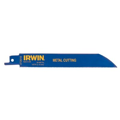 "Irwin Metal Cutting Reciprocating Saw Blades - irwin 8"" reciprocating saw blade  18 tpi (5 pack"
