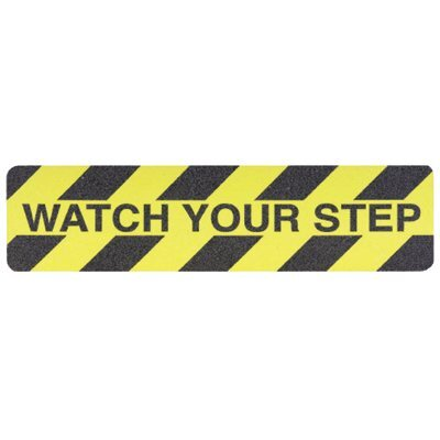 "Jessup Safety Track® 3300 Commercial Grade Tapes & Treads - safety track 6""x24"" watch your setup anti skid"