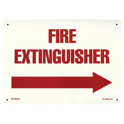 Jessup Glow In The Dark Fire Signs - glow in the dark fire extinguisher signs  rigid