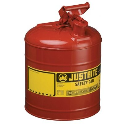Justrite Type l Safety Cans for Flammables - 2.5g/9.5l safe can red