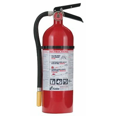 Kidde ProLine™ Multi-Purpose Dry Chemical Fire Extinguishers - ABC Type - pro 5 tcm-2vb tri-classabc fire extinguishe