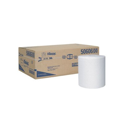 Kimberly-Clark X 600 White KLEENEX® Hard Roll Towels (600 Per Roll)
