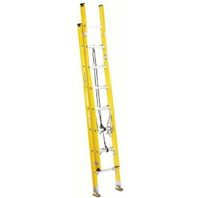 Louisville Ladder FE1700 Series Fiberglass Electrician Extension Ladders - 20' fiberglass channel extension ladder type i