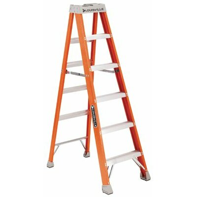 Louisville Ladder FS1500 Series Fiberglass Step Ladders - 8' fiberglass advent step ladder