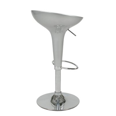 Eurostyle Ashley Adjustable Bar Stool in Silver