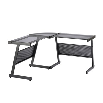 Eurostyle Luigi L-Shaped Computer Desk with out Shelf