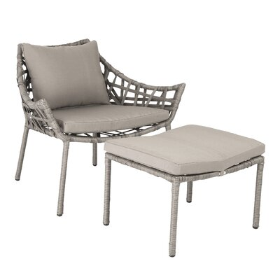 Eurostyle Gazelle Lounge Chair and Ottoman with Cushion
