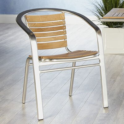 Eurostyle Shirley Stacking Dining Arm Chair