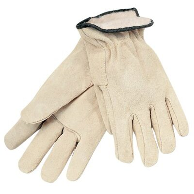Memphis Glove Insulated Drivers Gloves - large pile lined split leather glove russet colo