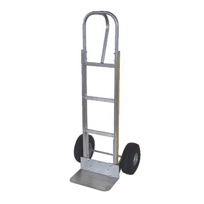 "Milwaukee Hand Trucks Modular Aluminum Hand Trucks - p-handle hand truck w/10"" semi-pneu. wheels"