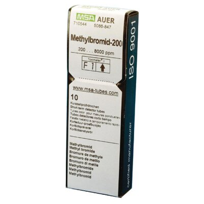MSA - 8000 PPM Methyl Bromide MEBR-200 Detector Tube (10 Each Per Box)