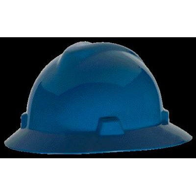 MSA V-Gard® Class E, G Type I Polyethylene Non-Slotted Hard Hat With Fas-Trac® Suspension
