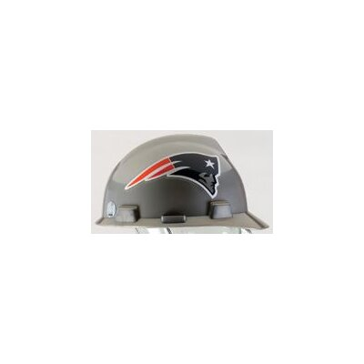 MSA V-Gard® Type I Hard Cap With 1-Touch™ Suspension, New England Patriots Logo And Adjustable Strap