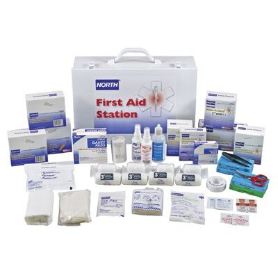 North Safety First Aid Stations - 100 person first aid kitfilled 15x11x5""