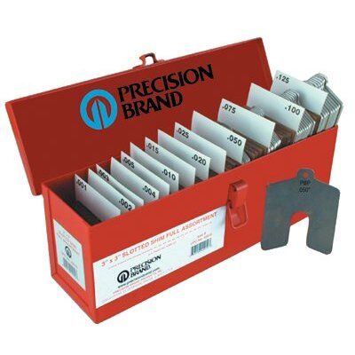 "Precision Brand Slotted Shim Assortment Kits - size a 2""x2"" slotted shim mini-assort"