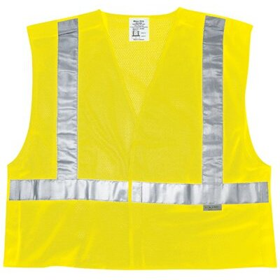 River City Luminator Class Ii Tear-Away Safety Vests Fire Resistant Cls Ii Fluorescent  Lime Poly Msh: 611-Cl2Mlpfrl - fire resistant cls ii fluorescent  lime poly msh