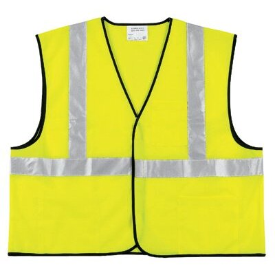 River City Class Ii Economy Safety Vests Class Ii Solid Poly Fluorescent Lime Safety Vest: 611-Vcl2Slx3 - class ii solid poly fluorescent lime safety vest