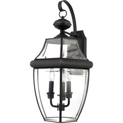 Quoizel 22.5&quot; Newbury Outdoor  Wall Lantern in Medici Bronze