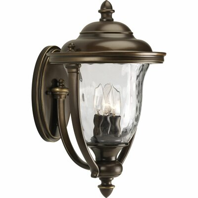 Progress Lighting Prestwick Three Light Large Wall Lantern in Oil Rubbed Bronze