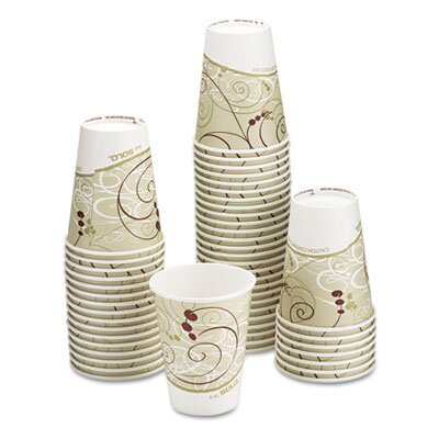 Solo Cups Company Symphony Design Hot Cups, 1000/Carton