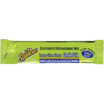 Sqwincher Lemon-Lime Qwik Stik Pouch - Add To 20 Ounce Bottle Of Water (50 Per Package)