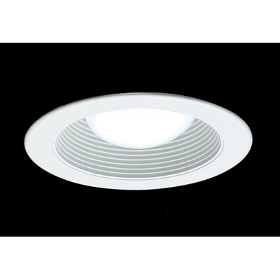 "Thomas Lighting 4"" White Stepped Baffle Recessed Trim"