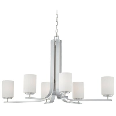 Thomas Lighting Pendenza 6 Light Chandelier