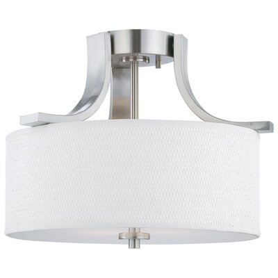 Pendenza 2 Light Semi Flush Mount Ceiling Light