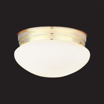 2 Light Glass Flush Mount