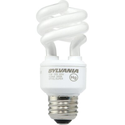 Sylvania 11 Watt Super Mini Twist Compact Fluorescent Bulb
