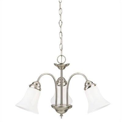 Westinghouse Lighting 3 Light with Opal Glass Chandelier